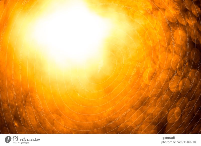 Tunnel into the light Flare Illuminate Light (Natural Phenomenon) Speed of light Blur Background picture Lighting Circle Orange Warmth Halo Colour photo