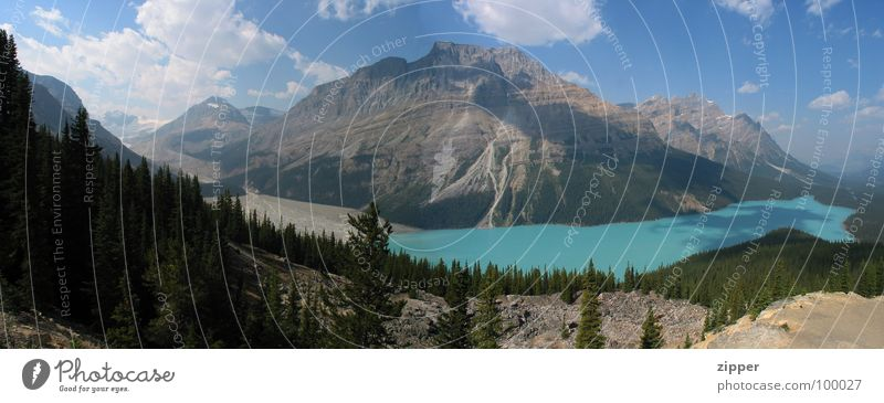 Peyto Lake Canada Vacation & Travel Panorama (View) Glacier Icefields Parkway Mountain Rocky Mountains Large Panorama (Format)
