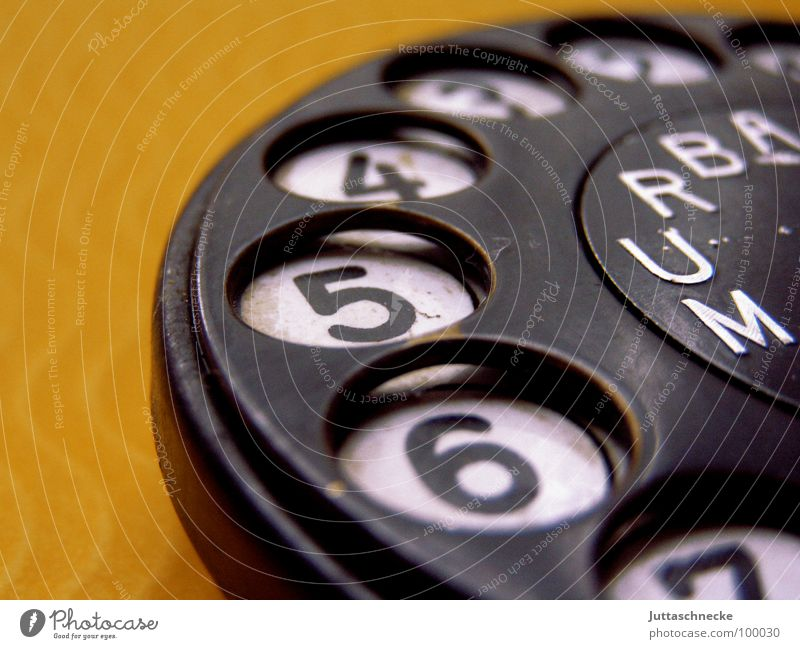 Remember me? Rotary dial Telephone Digits and numbers Yellow Black Household Communicate Old Juttas snail