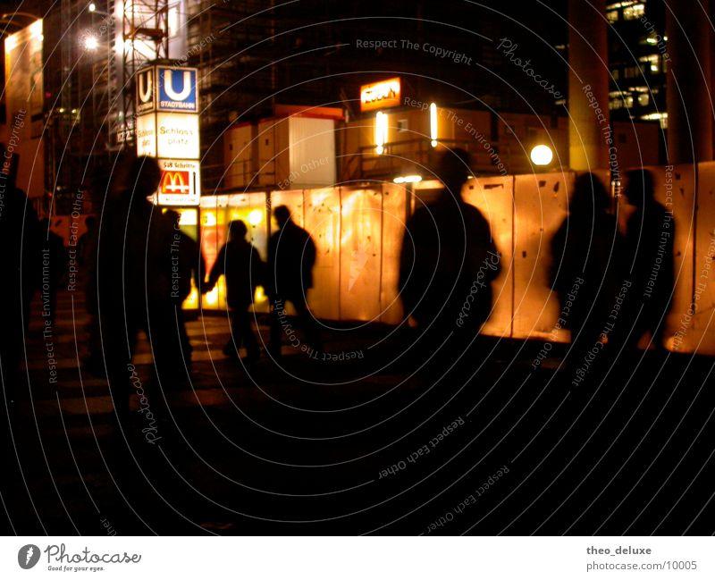Human being City Street Lamp Dark Wall (building) Transport Underground