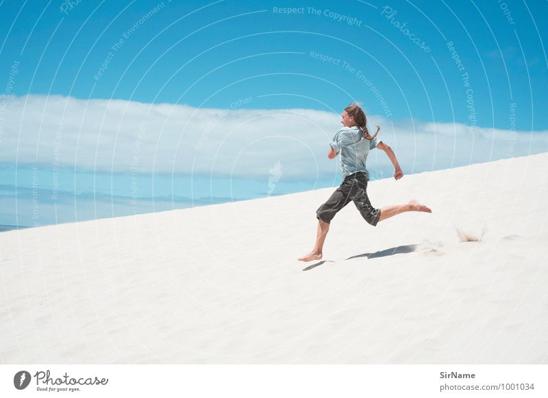313 Lifestyle Joy Vacation & Travel Adventure Far-off places Freedom Summer Summer vacation Beach Mountain Fitness Sports Training Young man