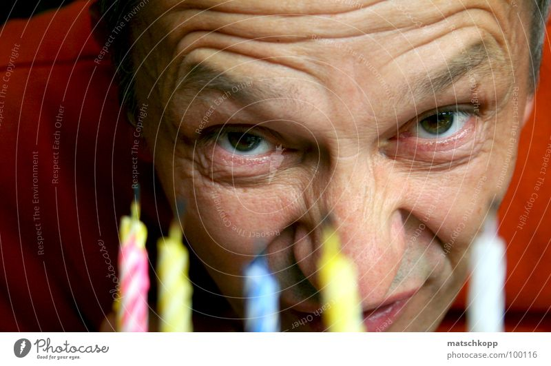 Eyes Funny Bright Orange Birthday Mouth Nose Happiness Candle Ear Wrinkles Americas Gateau Eyebrow Flashy Forehead