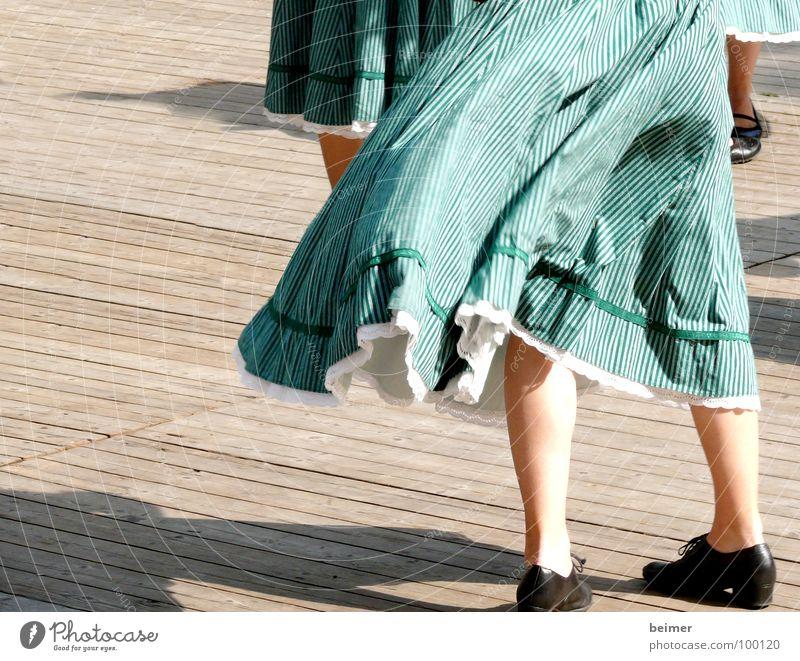 Green Footwear Legs Dance Wind Multiple Stage Rotate Folk-dance