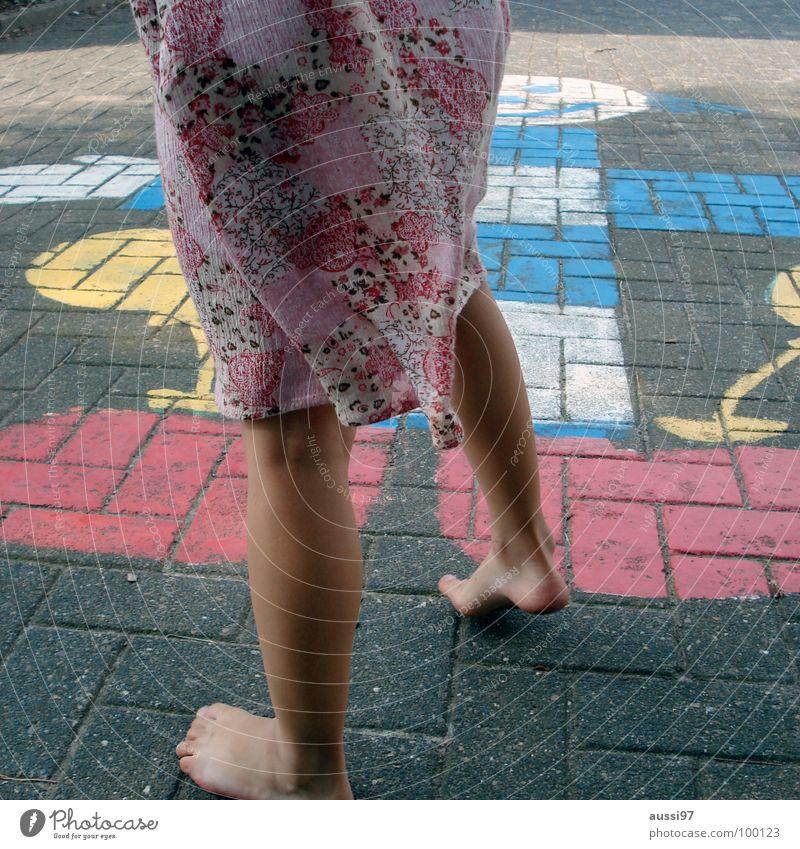 Child Girl Playing Movement Feet Toddler Playground Schoolyard Instinct Play instinct Hinky Pinky