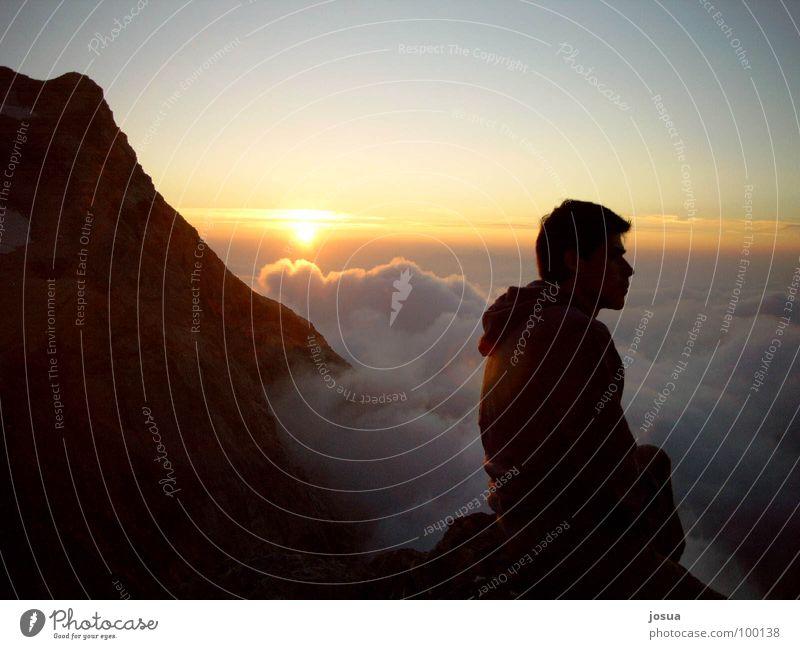 Human being Sun Clouds Mountain Fog Romance