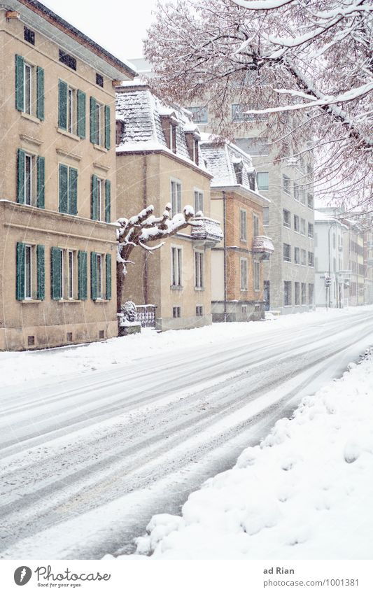 Nature City Winter Cold Environment Wall (building) Street Architecture Snow Lanes & trails Building Wall (barrier) Facade Snowfall Ice Idyll