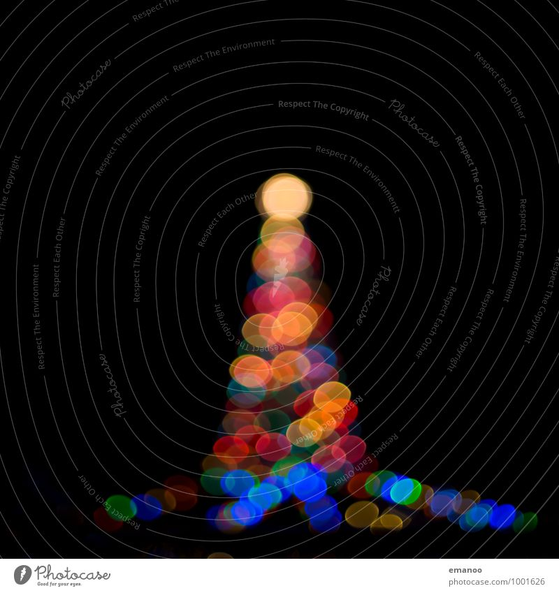 bokeh tower Event Feasts & Celebrations Christmas & Advent Technology Art Work of art Architecture Tower Lighthouse Sign Sphere Illuminate Dark Bright