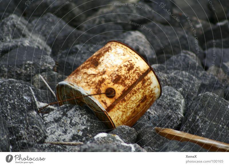 Wood Stone Environment Trash Transience Rust North Sea Bucket Anticorrosion paint