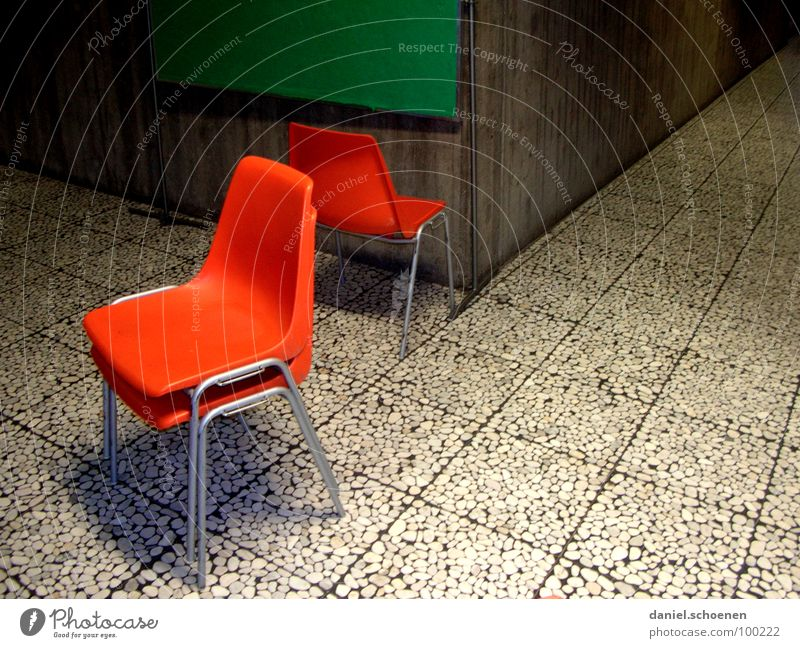 beautiful learning part 2 Green Pattern High School Hallway Vacation & Travel Classroom Grade (school level) Boredom Frustration Education Detail Chair Orange