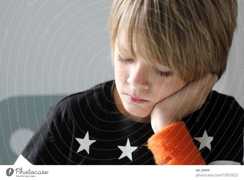 Human being Child White Calm Black Life Boy (child) Think School Fashion Orange Dream Modern Blonde Authentic Infancy