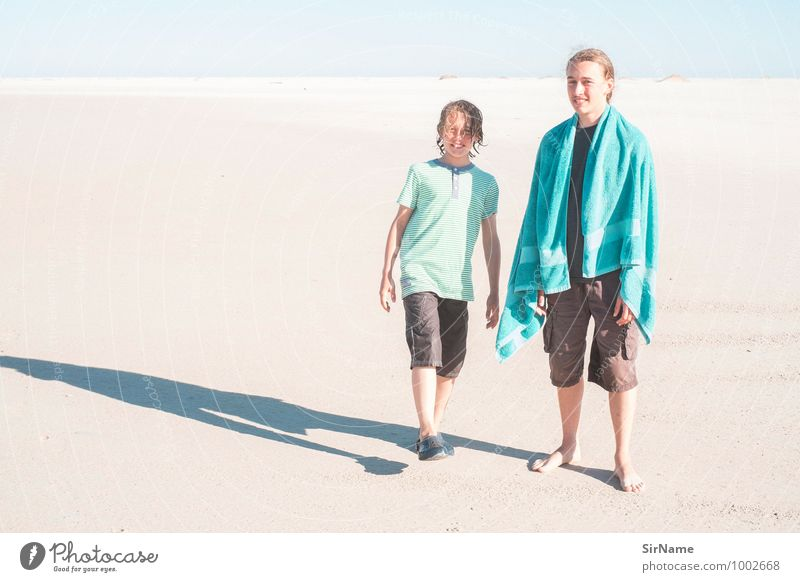 Human being Child Vacation & Travel Youth (Young adults) Summer Ocean Landscape Joy Young man Beach Far-off places Boy (child) Natural Freedom