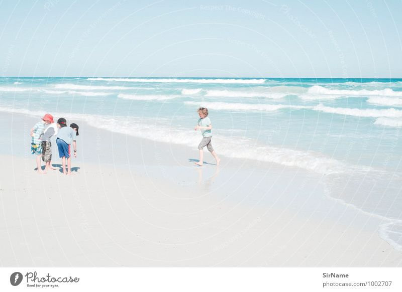 Human being Child Vacation & Travel Youth (Young adults) Summer Sun Ocean Beach Far-off places Life Boy (child) Freedom Friendship Together Family & Relations