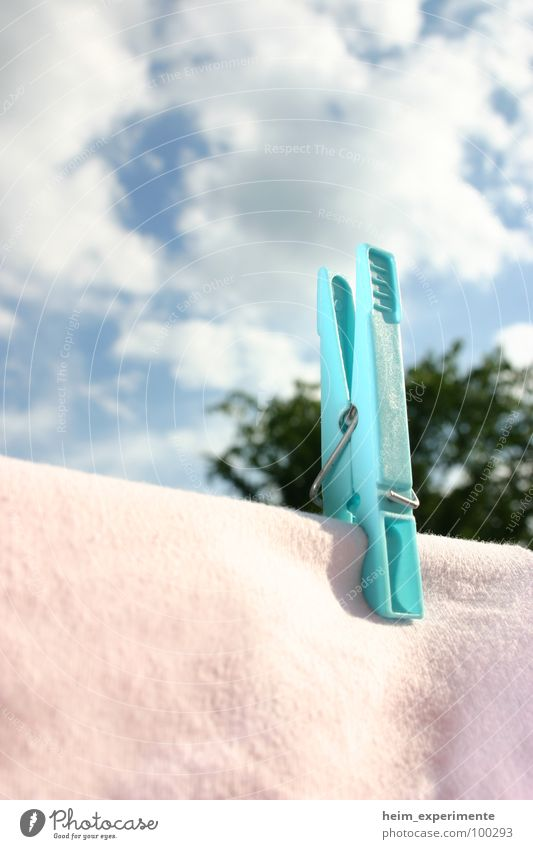 Sky Sun Blue Summer Clouds Spring Pink Wind Clothing Dry Laundry Household Dry Holder Clothes peg