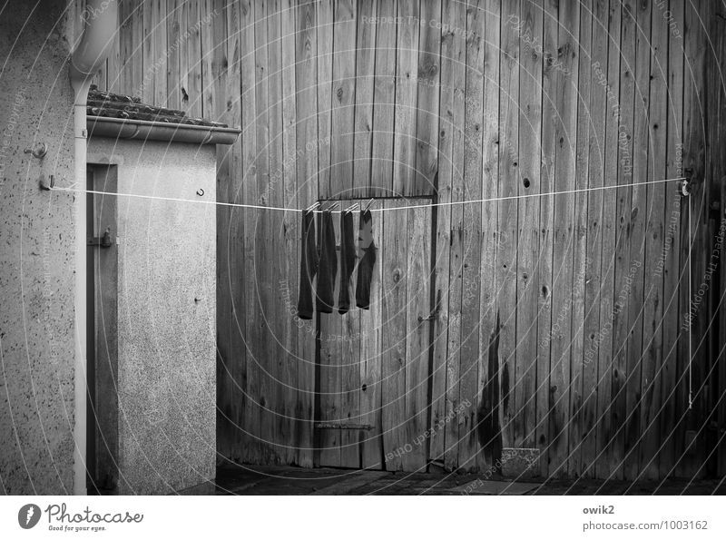 Calm Wall (building) Wall (barrier) Wood Facade Together Door Gloomy Contentment Simple Historic Dry Manmade structures Firm Hang Stockings