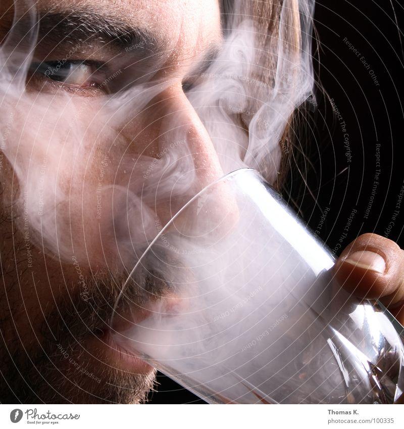 Hand Black Face Dark Head Glass Glittering Blaze Empty Beverage Gloomy Eyeglasses Drinking Smoking Illness Tobacco products