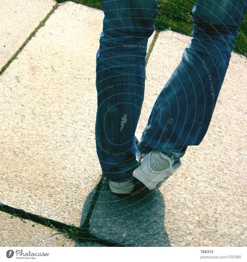 LATENT INCONTINENCE Break Playing Pastime Problem Hacky Sack Cloth Grain Footwear Pants Contentment Balance Stone slab Grass Meadow Background picture White