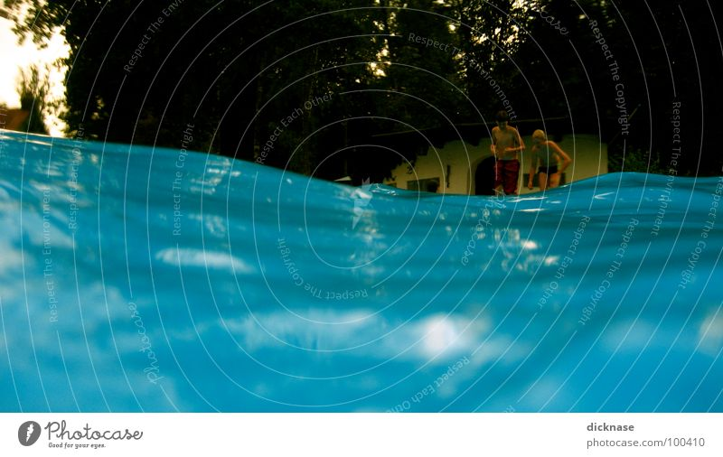 Have fun... Swimming pool Summer Afternoon Waves Bath house Swimming & Bathing Jump Relaxation Break Refrigeration Cooling Reflection Refreshment Wavy line