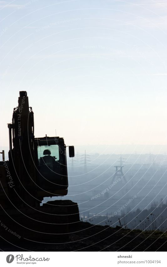 Mining Construction machinery Excavator The Ruhr Tower Manmade structures Mine Work and employment Growth Change Colour photo Subdued colour Exterior shot