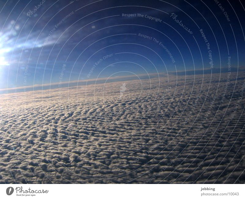 above the clouds Clouds Airplane Vantage point Covers (Construction) Sky Flying skim Tall heaven sun