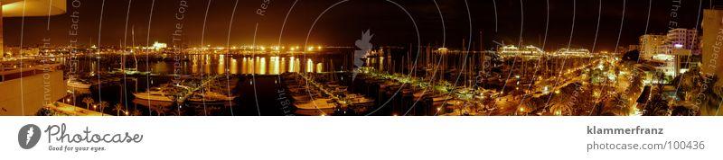 Water Ocean Vacation & Travel Calm Street Lamp Dark Lake Watercraft Moody Lighting Planning Large Bridge Romance Vantage point