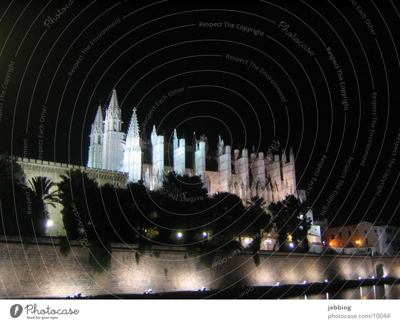 Building Religion and faith Lighting Europe Manmade structures Spain Majorca Cathedral Ambient Night shot Palma de Majorca