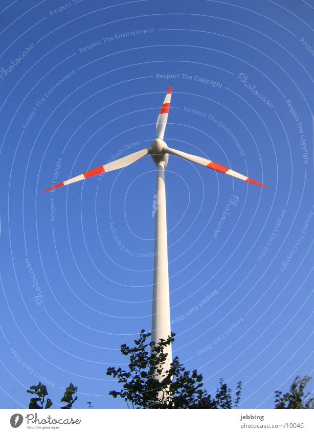 Sky Blue Wind Energy industry Electricity Technology Cable Wing Wind energy plant Rotate Electricity generating station Mill Electrical equipment