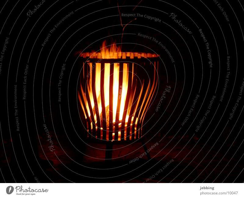 fire basket Night Basket Long exposure Evening Cozy Iron Physics Hot Light Dark Blaze Romance Leisure and hobbies Lamp Warmth Flame Fleming Fireplace camp fire