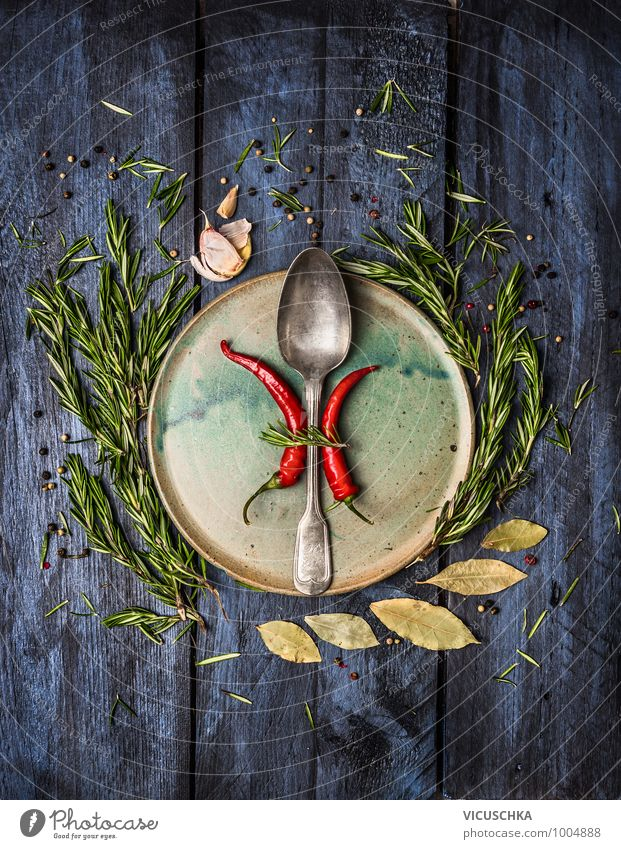 Blue Healthy Eating Style Food Flat (apartment) Design Nutrition Kitchen Herbs and spices Organic produce Crockery Restaurant Plate Vintage Banquet