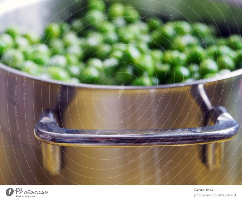 green pearls... Food Vegetable Peas Frozen Thaw Green Vitamin Vitamin-rich Healthy Side dish Nutrition Lunch Pot Cold Small Round Silver Numbers Pea soup