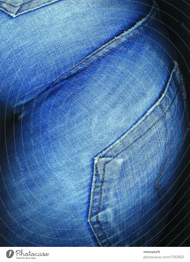 Woman Human being Blue Clothing Jeans Hind quarters Pants Bag Parts of body
