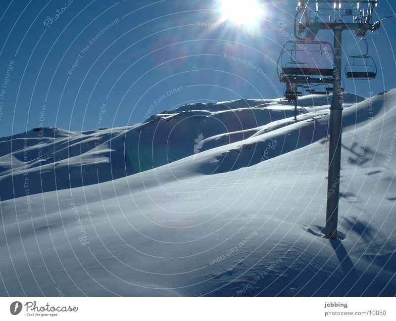Isn't there an elevator here? Chair lift Austria Zillertal Ski lift Snow ski Sit Mountain Alps Sun mountains