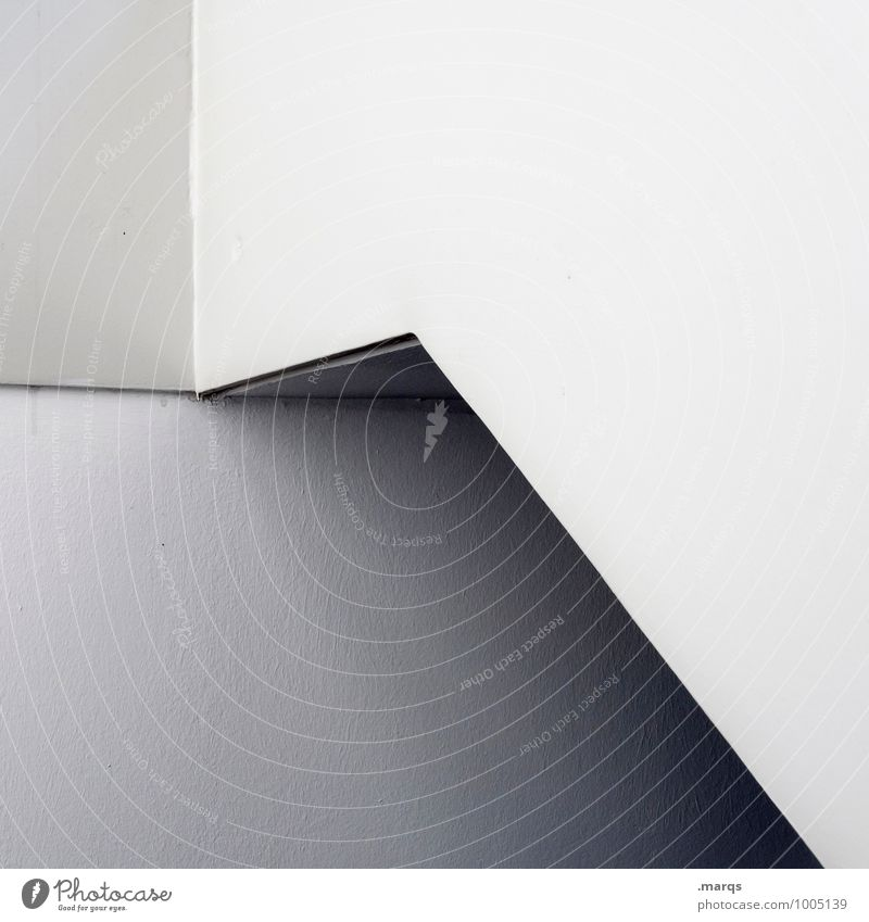 From Architecture Wall (barrier) Wall (building) Line Sharp-edged Simple Bright Gray White Esthetic Perspective Sterile Illustration Minimalistic