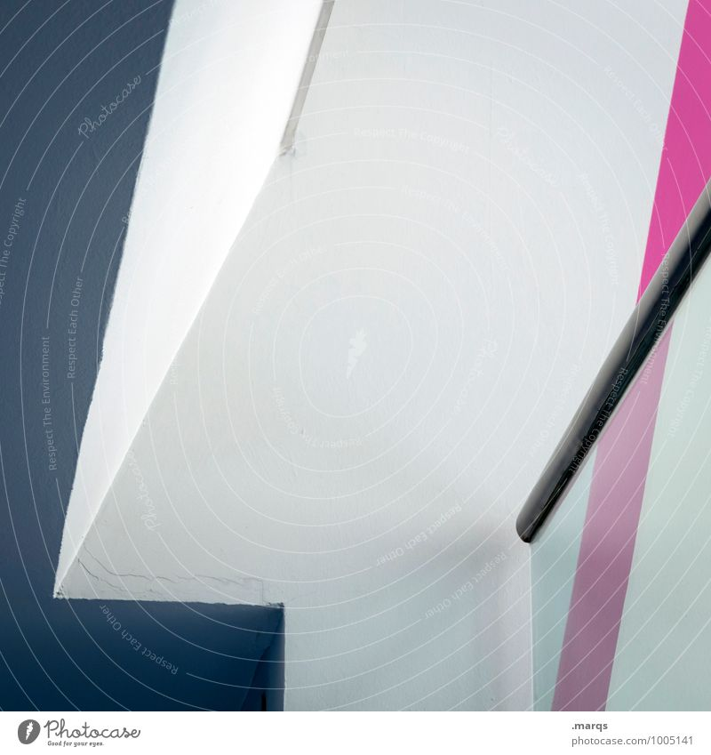 handrail Lifestyle Elegant Style Design Interior design Architecture Handrail Line Sharp-edged Modern Gray Pink White Perspective Illustration Minimalistic