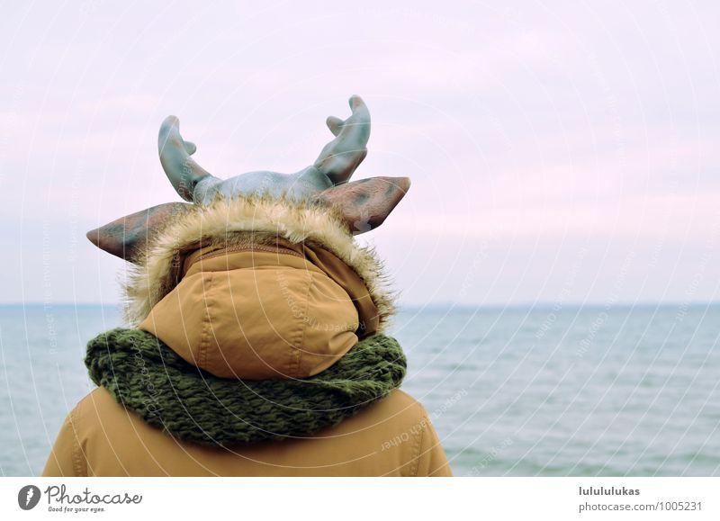Human being Sky Nature Ocean Animal Far-off places Head Meditative Free Vantage point Observe Ear Serene Jacket Animalistic Mask