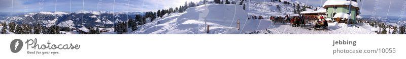 Winter Cold Snow Mountain Large Alps Skis Peak Panorama (Format) Austria Elevator Federal State of Tyrol Mountain range Ski run
