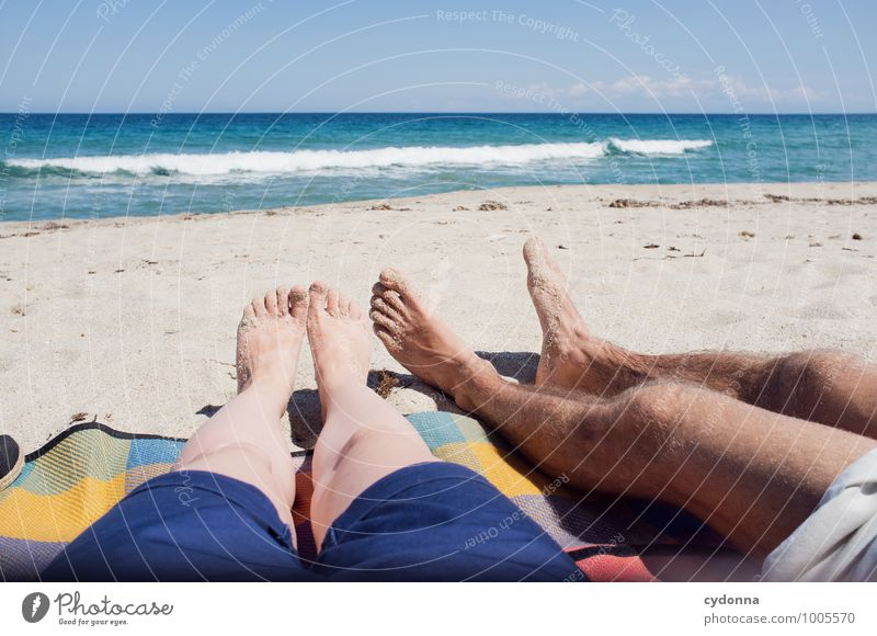 Lang Lifestyle Relaxation Vacation & Travel Trip Far-off places Freedom Summer Summer vacation Sun Sunbathing Beach Ocean Human being Young woman