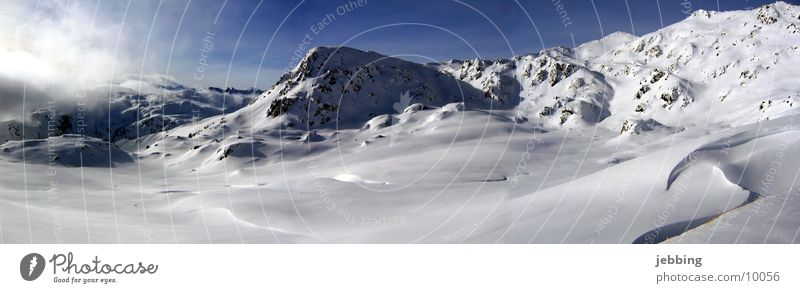 Winter Cold Snow Mountain Large Europe Alps Skis Peak Panorama (Format) Austria Federal State of Tyrol Mountain range Ski run