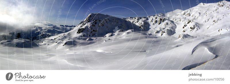 Winter Cold Snow Mountain Large Europe Alps Skis Peak Panorama (Format) Austria Federal State of Tyrol Mountain range Ski run