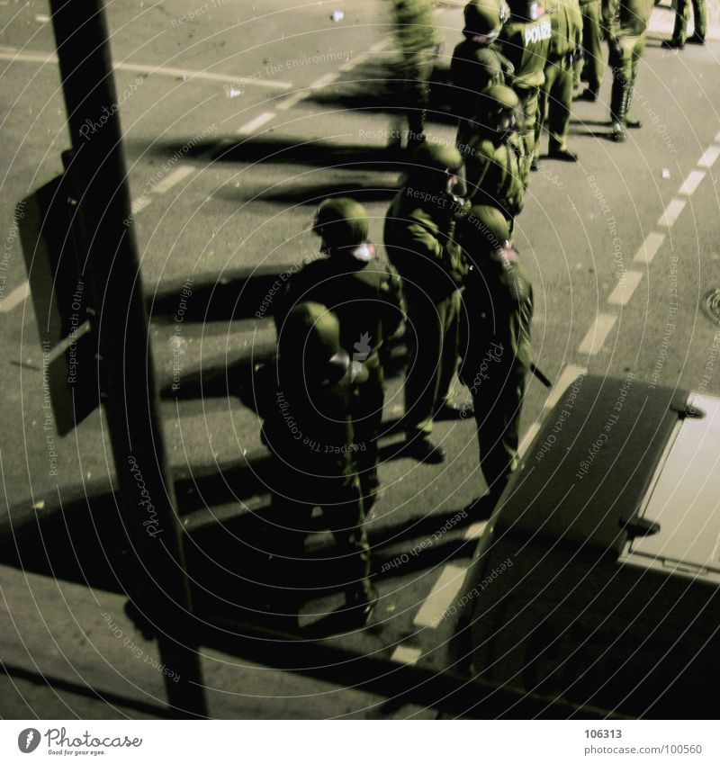 WAITING FOR GODOT [FIN] Calm Group Street Helmet Argument Wait Police Force Police Officer Deployment Combat dress Protective clothing Demonstration Roadblock