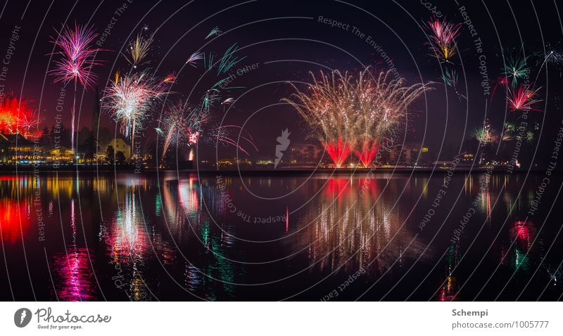 happy new year Tourism Night life Entertainment Party Event Uniqueness Energy New Year's Eve Firecracker Colour photo Deserted Reflection