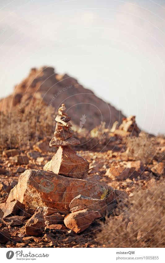 Waypoint. Environment Nature Earth Esthetic Contentment Stone Stone floor Stone Age Stone block Stony Stack Spain Footpath Signs and labeling Old-school