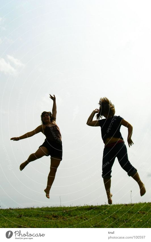 Sky Summer Joy Meadow Jump Freedom