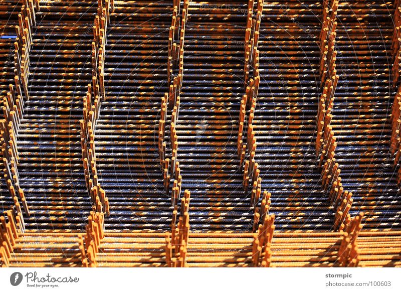 reinforcing steel meshes Concrete Steel Manmade structures Tunnel Crane Process Work and employment Construction Industry Bridge Safety Build Rust steel mats