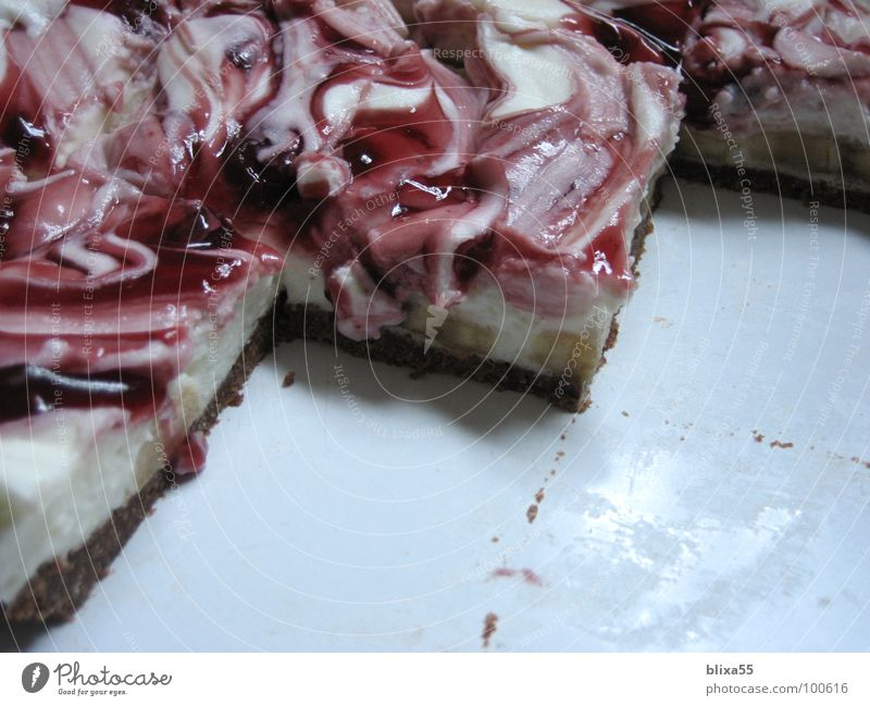 Joy Birthday Part Crockery Cake Plate Partially visible Baked goods Cherry Dough Cream Fruit Creamy