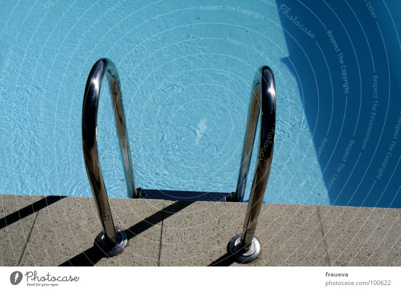 cooling down Swimming pool Summer Water Leisure and hobbies Ladder hot swimming Exterior shot