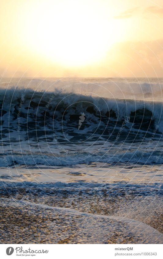 Surf castle. Art Esthetic Contentment Ocean Sea water Beach Beach life Coast Waves Swell Undulation Wave action Wavy line Wave break White crest Bubbling Sun