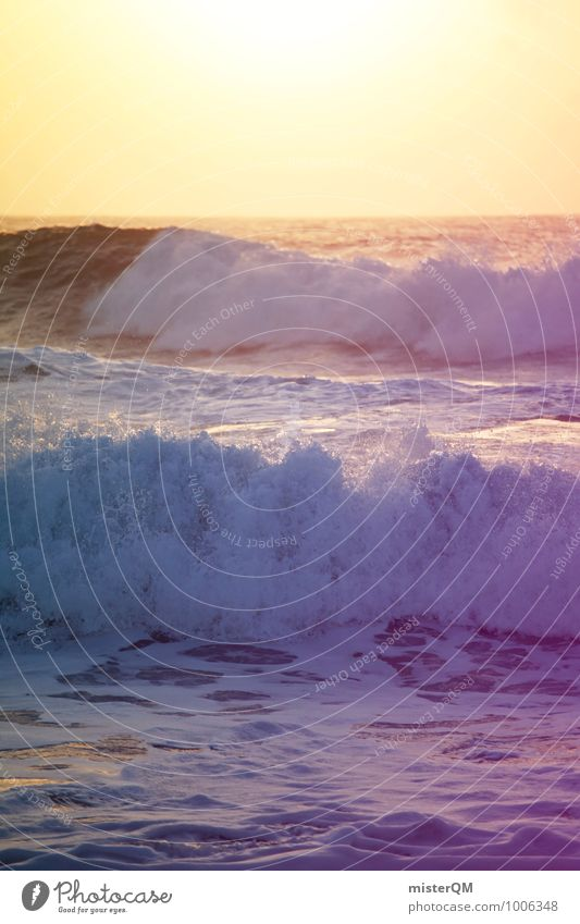 Beach Coast Art Contentment Waves Esthetic Swell Vacation photo Undulation Vacation mood Wave action Wavy line Wellenkuppe Wave break Wave length Crest of the wave