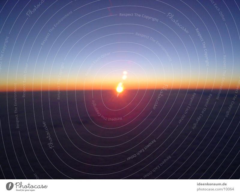 sunrise Airplane Morning Sun Sky Aviation Flying