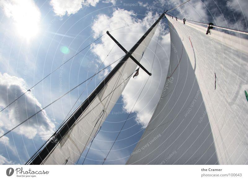 Water Sky Clouds Sports Playing Watercraft Wind Cloth Sailing Electricity pylon Rag Aquatics