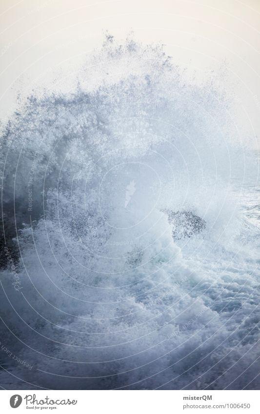 White Boom. Art Esthetic Contentment Waves Swell Undulation Wave action Wavy line Wellenkuppe Wave break Surf White crest Romp Dynamics Foam Water Ocean Coast